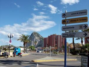 Blick auf Gibraltar aus La Línea de la Conception