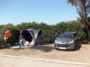 Unsere Parzelle am Camping Bahia de la Plata