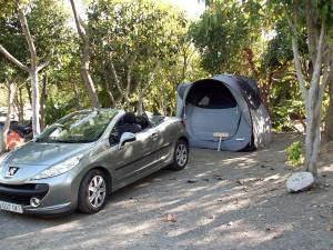 Unsere Parzelle am Camping Parque Tropical